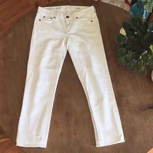 J Crew Matchstick Crop white jeans 26 EUC